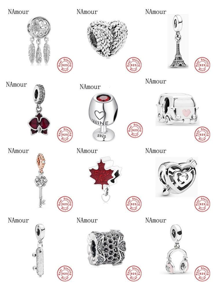 Bracelet en argent sterling 925 pour femmes, breloque Pandora original, bricolage de perles fines, rêveur, adapté aux bijoux de mode, nouvelle collection