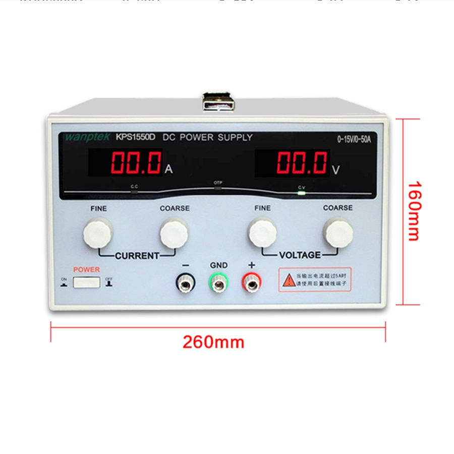 KPS1550D-مزود طاقة LED مزدوج العرض ، دقة عالية ، قابل للتعديل ، تيار مستمر 220 فولت ، الاتحاد الأوروبي ، 15 فولت/50 أمبير