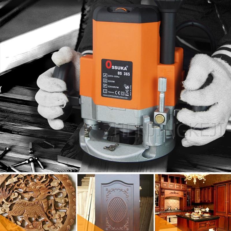220V фрезерный станок с ЧПУ с прорезями отделка измельчители вырезать плотник инструменты для украшения дома 2200 Вт Медь мотор устройства