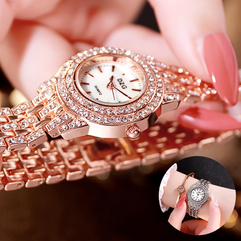 Luxo diamante elegante relógio de pulso de quartzo feminino pulseira de aço inoxidável charme senhoras casual presente reloj de dama