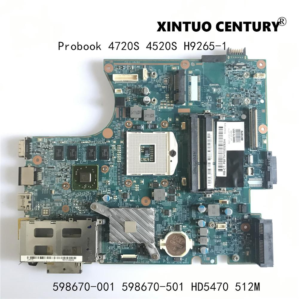 لوحة أم للكمبيوتر المحمول HP Probook 598670 S 598670 S 501 S 4720-001 4520-512 H9265-1 48.4GK06.011 ث/HD5470 100% MB GPU تم اختبارها