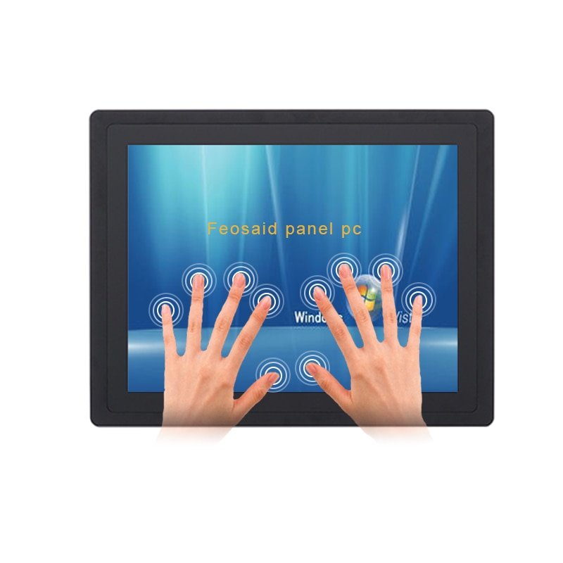 Fanless industrial touch panel pc I3i5i7 cpu 10.4-inch embedded capacitive screen all in one waterproof computer