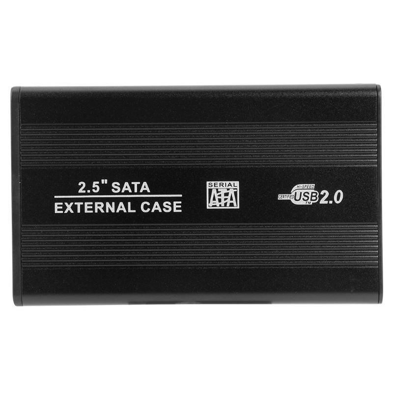 VKTECH 2.5 inch Hard Disk Case Aluminum Alloy Portable SSD Disk HDD Box USB2.0 External Hard Disk Case HDD Enclosure Case NEW