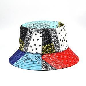 2021 Cotton four seasons Patchwork Print Bucket Hat Fisherman Hat Outdoor Travel Hat Sun Cap Hats for Men and Women 393