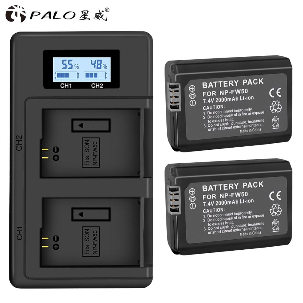 PALO NP-FW50 np-fw50 Camera Battery li-ion for Sony NEX-7 NEX-5N NEX-F3 A37 NEX-5R NEX-6 NEX-3N ILCE-QX1 A6500 RX10III