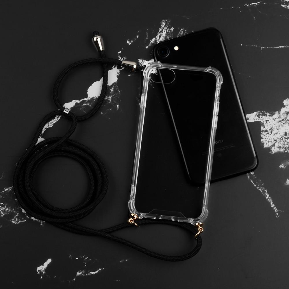 Sangle cordon chaîne téléphone étui pour iphone XS Max X XR 7 8 6 6s PLUS 10 bande collier lanière Mobile housse de transport pour accrocher la couverture