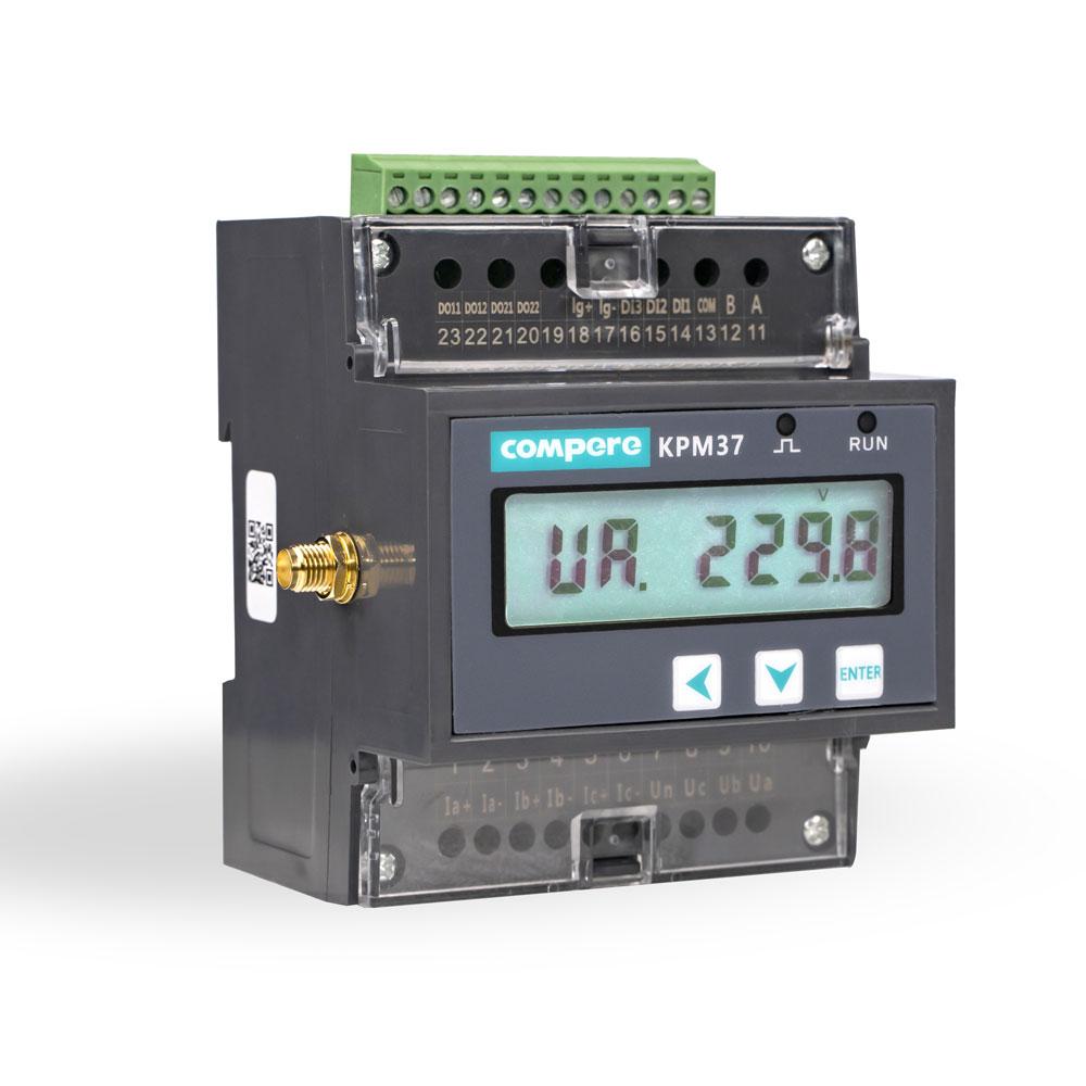 الرقمية الشمسية السكك الحديدية السلطة متر KPM37 3 المرحلة واي فاي mqtt الاتصالات و modbus rs485 دعم الطاقة الخارجية CTs