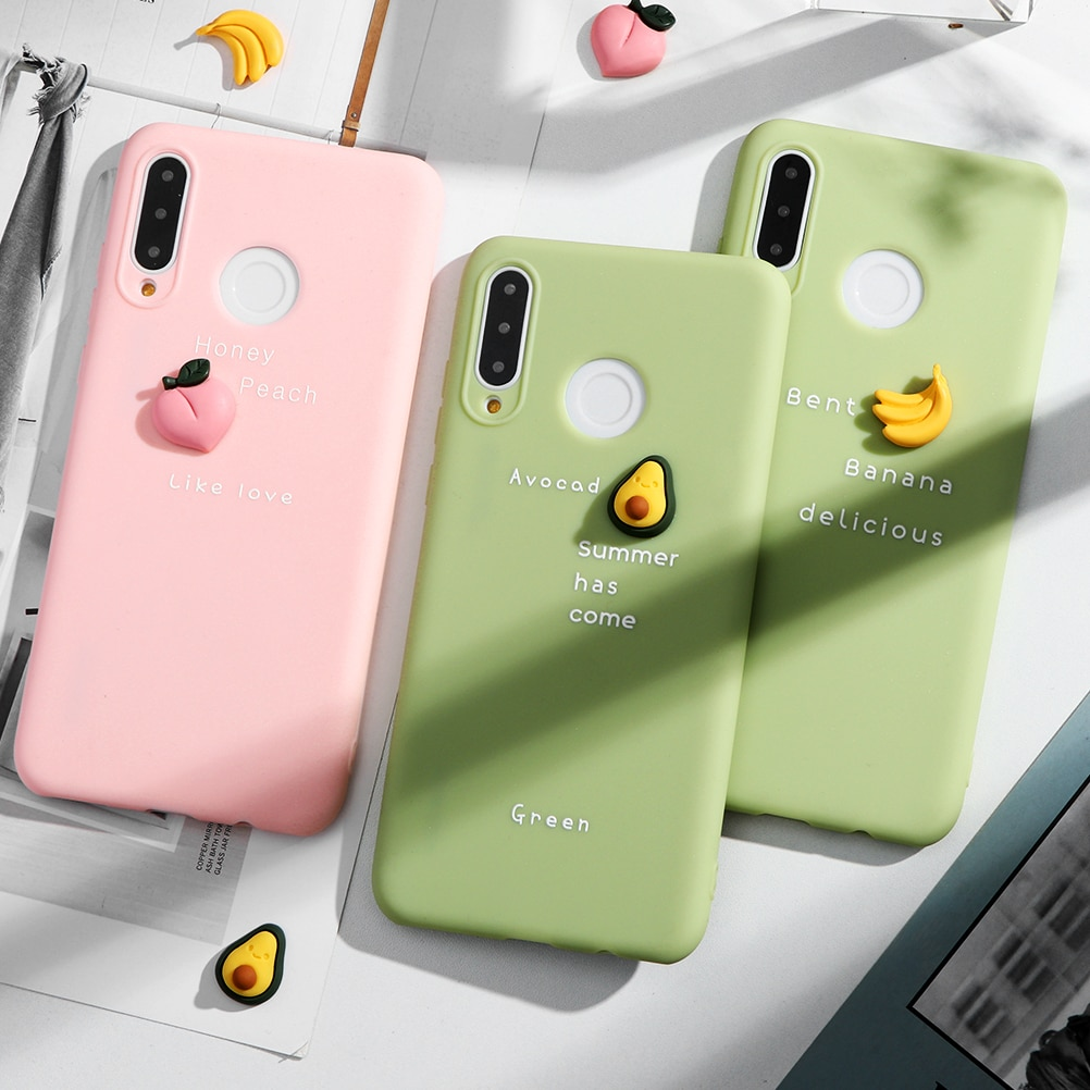 Dulces de moda suave frutas caso Huawei Mate 30 20 10 Lite Pro P inteligente Y7 Y9 primer Y6 Pro 2018 P30 P20 P10 Lite 2017 Pro 2019