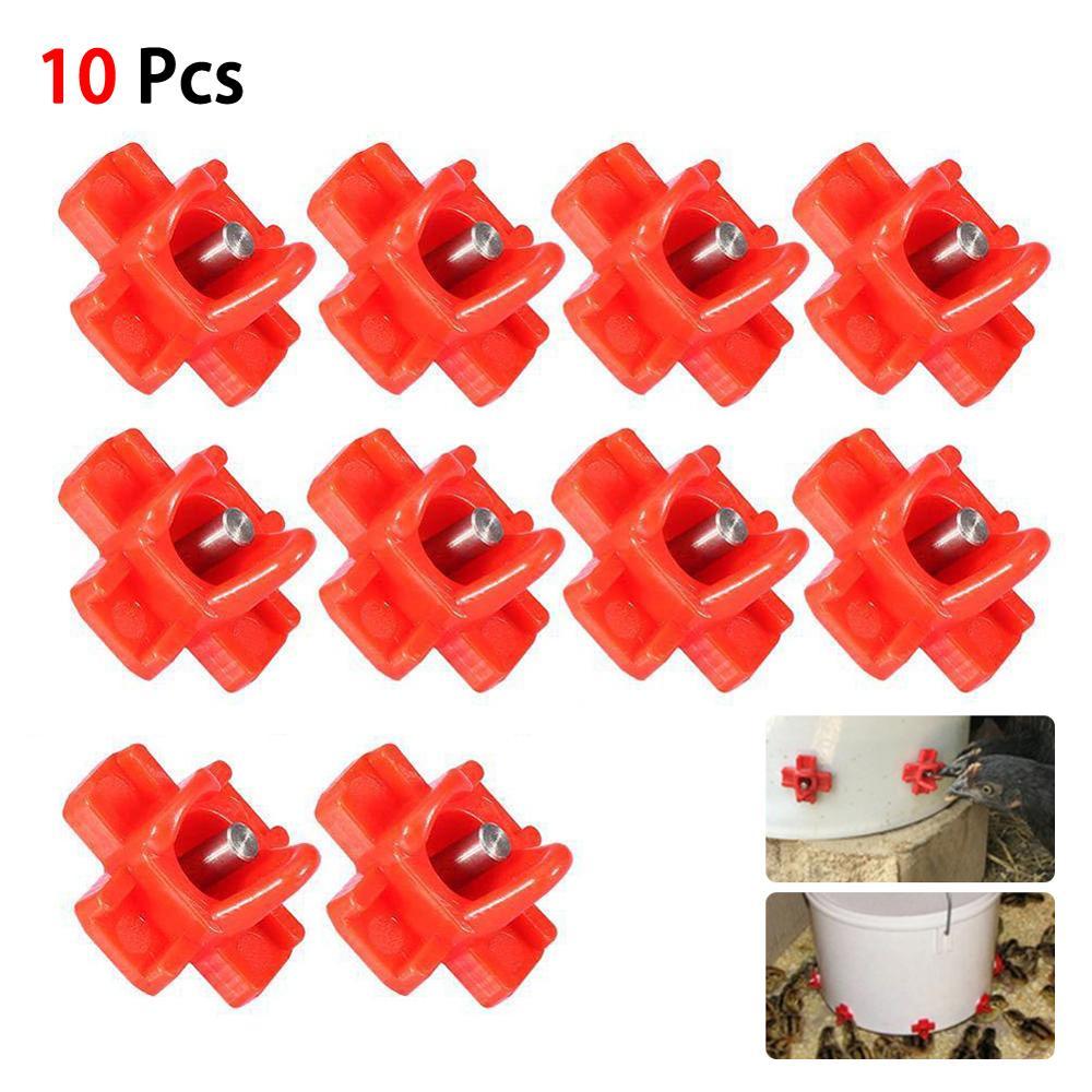 10 pçs purificador de água bebida direta torneira bebedor frango automática ferramenta de beber aves fazenda amplamente utilizado em galinhas pombos