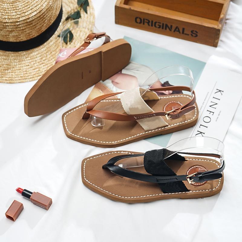 Шлепанцы-женские-кожаные-на-низком-каблуке-сандалии-с-лямкой-Повседневные-тапочки-лето-2021
