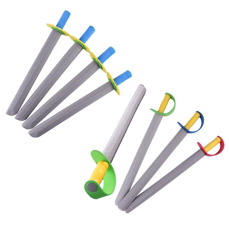 4Pcs/Set Creative EVA Foam Sword Knife Weapon Safety Performance Props Cosplay Costume Pretend Play Toy