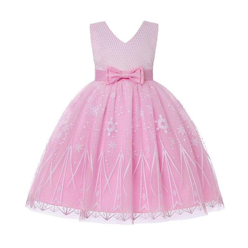 جديد الاطفال فساتين لفتاة لطيف الكرتون طباعة أكمام شبكة فستان الأميرة فستان حفلة رسمية ملابس الأطفال 2-11Y