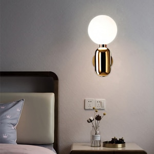 Nordic LED wall lamp modern simple gold silver black color wall sconce light indoor for bedside bedroom mirror decor fixture