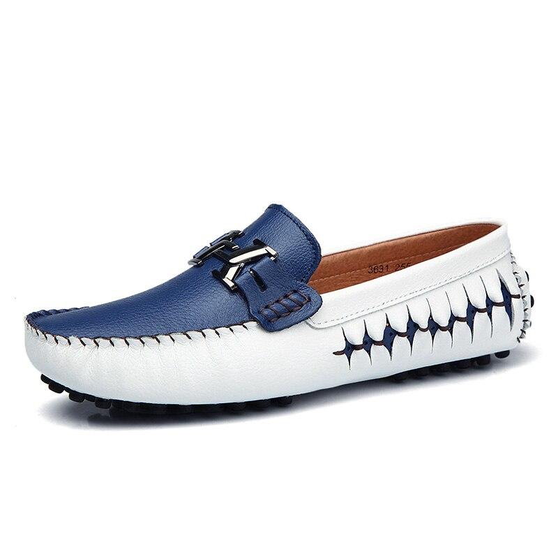 الايطالية حذاء كاجوال حذاء رجالي أحذية أنيقة جلدية أحذية مصممين عالية الجودة الذكور قوارب الأحذية المتسكعون Zapatos دي Hombre *