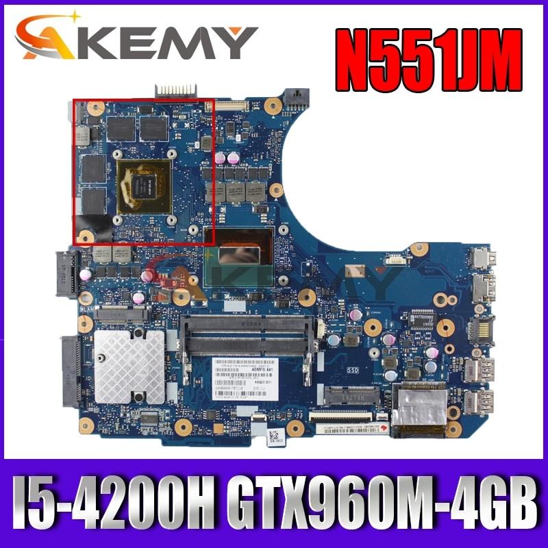 Akemy N551JM اللوحة لابتوب ASUS ROG N551JW N551J G551JW G551JM G551J اللوحة الأصلية I5-4200H GTX960M-4G/GTX950M-4G