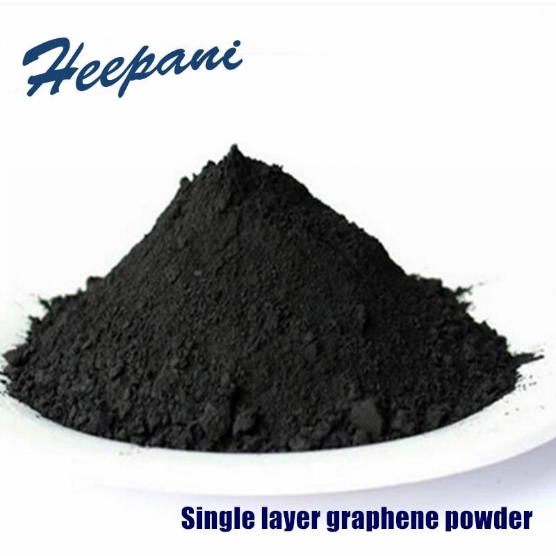 Envío Gratis solo capa grafeno polvo con 99wt de pureza 300nm-500nm ultrafino óxido de grafeno nanopartículas en polvo