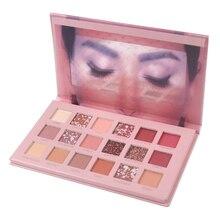 18 couleurs nu brillant fard à paupières nacré maquillage paillettes Pigment Smoky ombre à paupières palette imperméable cosmétiques ombre à paupières