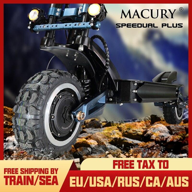 Macury Speedual Artı 11 Inç Çift elektrikli motorlu scooter 72 V 3200 W Off-road E-scooter 110 km/h Çift sürücü Sıfır 11X Off Road