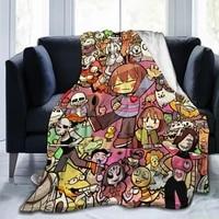 undertale sans premium throw blanket print on demand sherpa blankets soft for sofa customized diy blankets