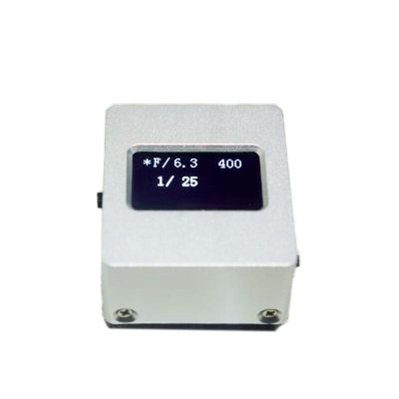 Medidor de luz de V-201X de Metal para cámara, medidor de luz de reflexión superior, Zapata caliente/Fijación de zapata fría, obturador de prioridad, Nylon opcional T1682