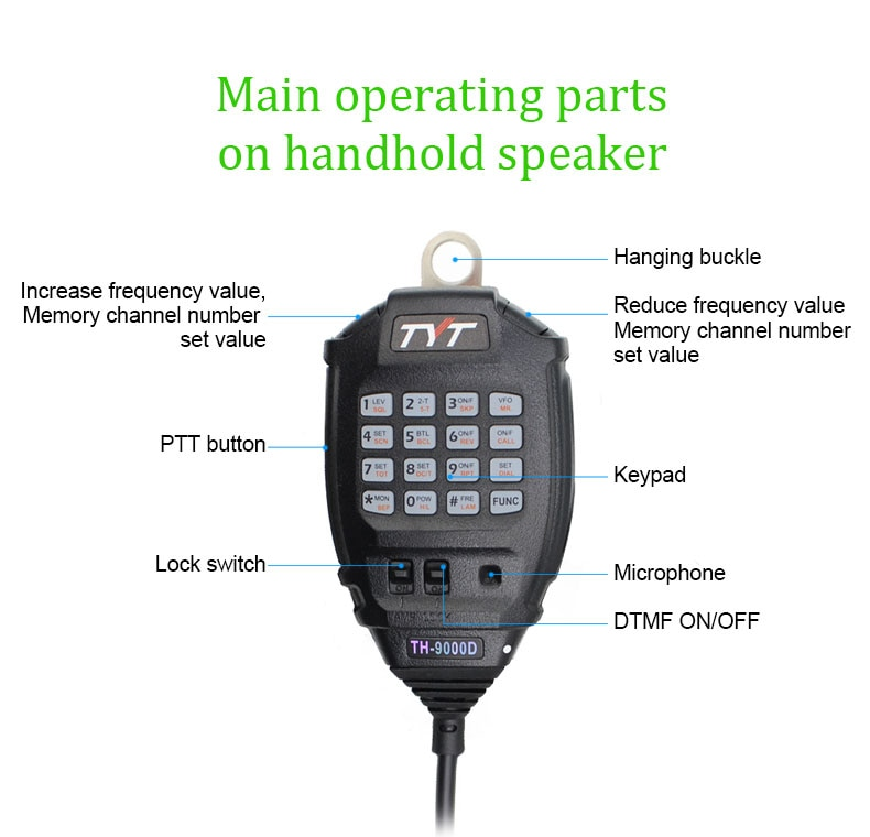 2020 Latest Version TYT TH-9000D Mobile Radio 200CH 60W Super Power High / Mid / Low selectable power Walkie Talkie enlarge