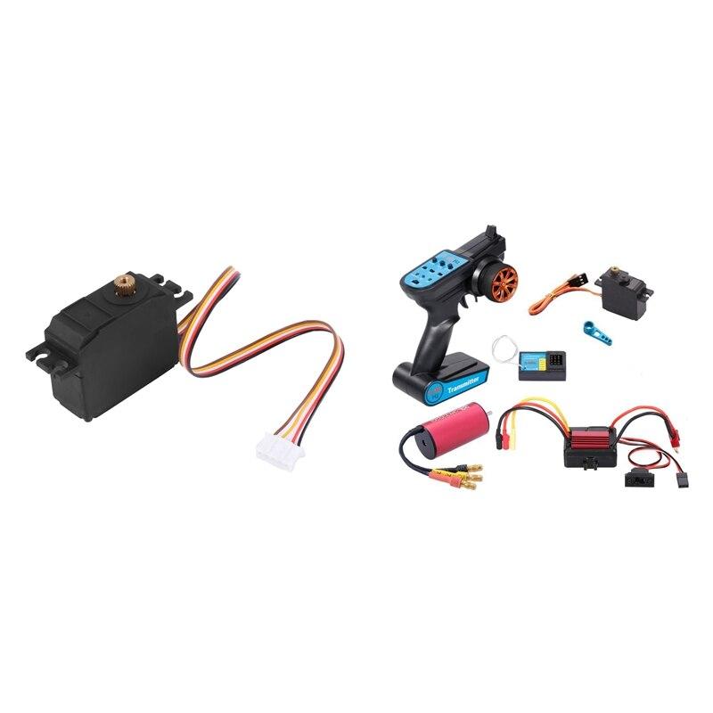 1 مجموعة فرش السيارات ESC استقبال جهاز تحكم عن بعد مجموعة أجهزة ل WLtoys A959 و 1x خمسة سلك 25G المعادن والعتاد مضاعفات