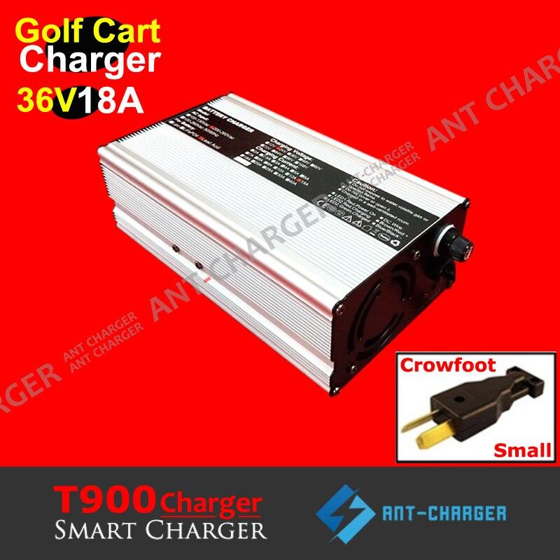 Cargador de batería de coche de 36 voltios y 18 Amp EZGO Yamaha Golf Carts Club-enchufe cropata 36V18A cargador de batería de plomo y Ácido sin mantenimiento