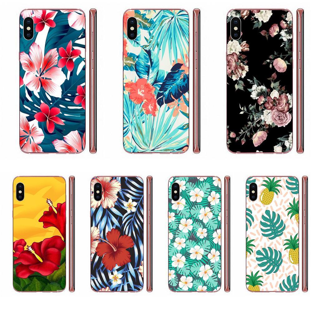 De Lujo funda de teléfono Vertical verano hojas de flor de hibisco para Huawei Mate 9 10 20 P P8 P9 P10 P20 P30 P40 Lite Pro Smart 2017