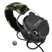 electronic msasordin tactical headset hunting shooting earmuffs airsoft military standard noise reduction pickup headphone bk