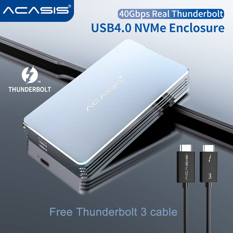 Acasis USB4.0 M.2 SSD Enclosure 40Gbps M2 NVMe Case Compatible with Thunderbolt 3 4 USB 4.0 3.2 3.1 3.0 Type C  For Laptop