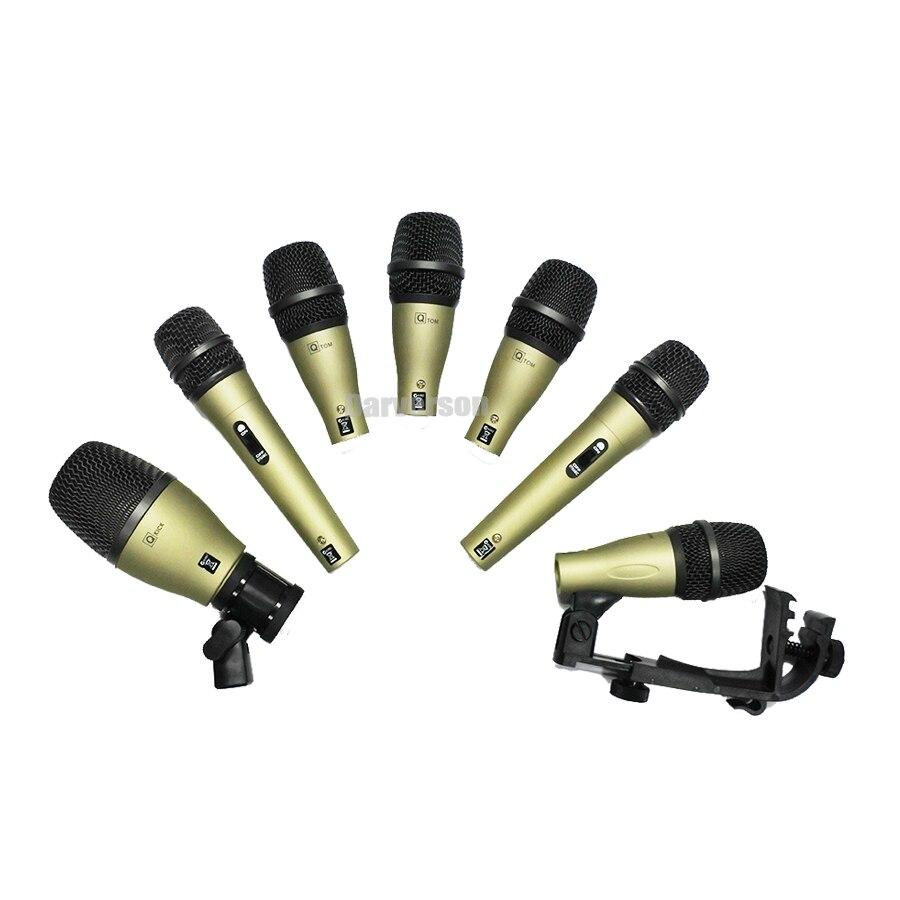 Q71 Q72 DK 707 estilo 705 DK707 kick trampa tom bass drum kit de viaje accidente micrófono instrumento micrófono dinámico