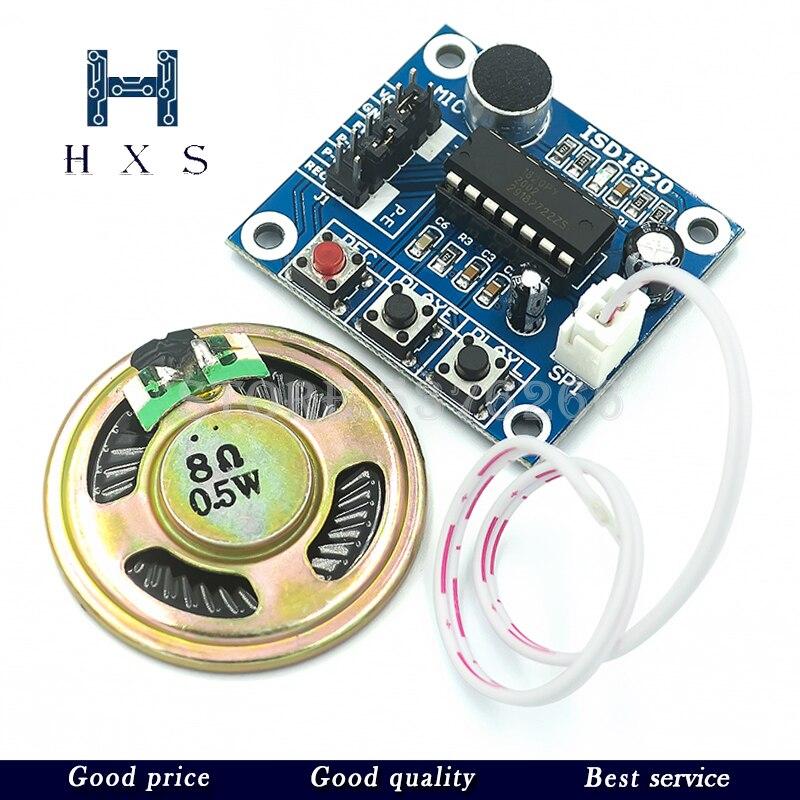 1 Uds módulo de grabación ISD1820 Módulo de voz Módulo de teléfono con micrófonos + altavoz para arduino ISD1820