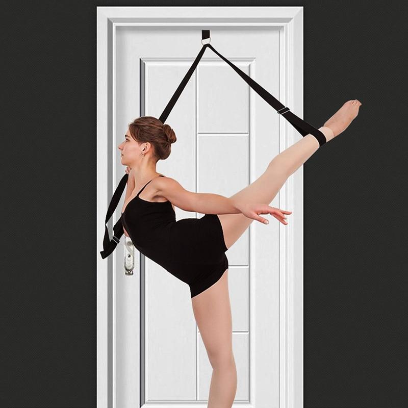 Door Flexibility Stretching Leg Stretcher Strap Adjustable Sports Yoga Ballet Band Exercise Soft Leg Home Workout Gym Equipment