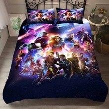 Funda de almohada de Los Vengadores Infinity War, funda de almohada textil para el hogar, funda de cama de superhéroes de la película Comic, cama de funda para hombre y mujer, funda para cama, colcha