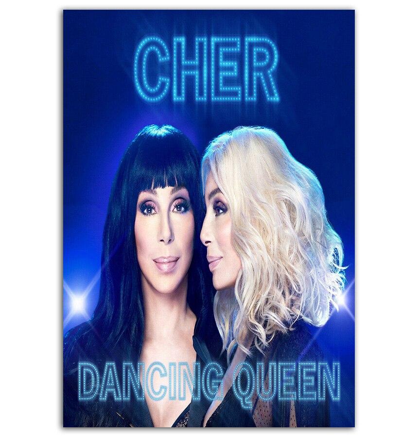 MT56 Cher reina bailando música Pop Soul álbum cantante estrella pintura arte Poster lienzo impreso decoración del hogar impresión de imagen de pared