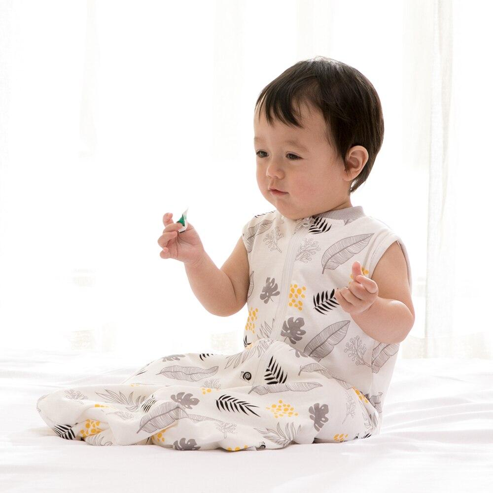 Baby Blanket 0.5Tog Baby Sleeping Bag 100% Cotton Newborn Swaddle Wrap Sleep Sack Wearable Blanket Easy Diaper Changing New