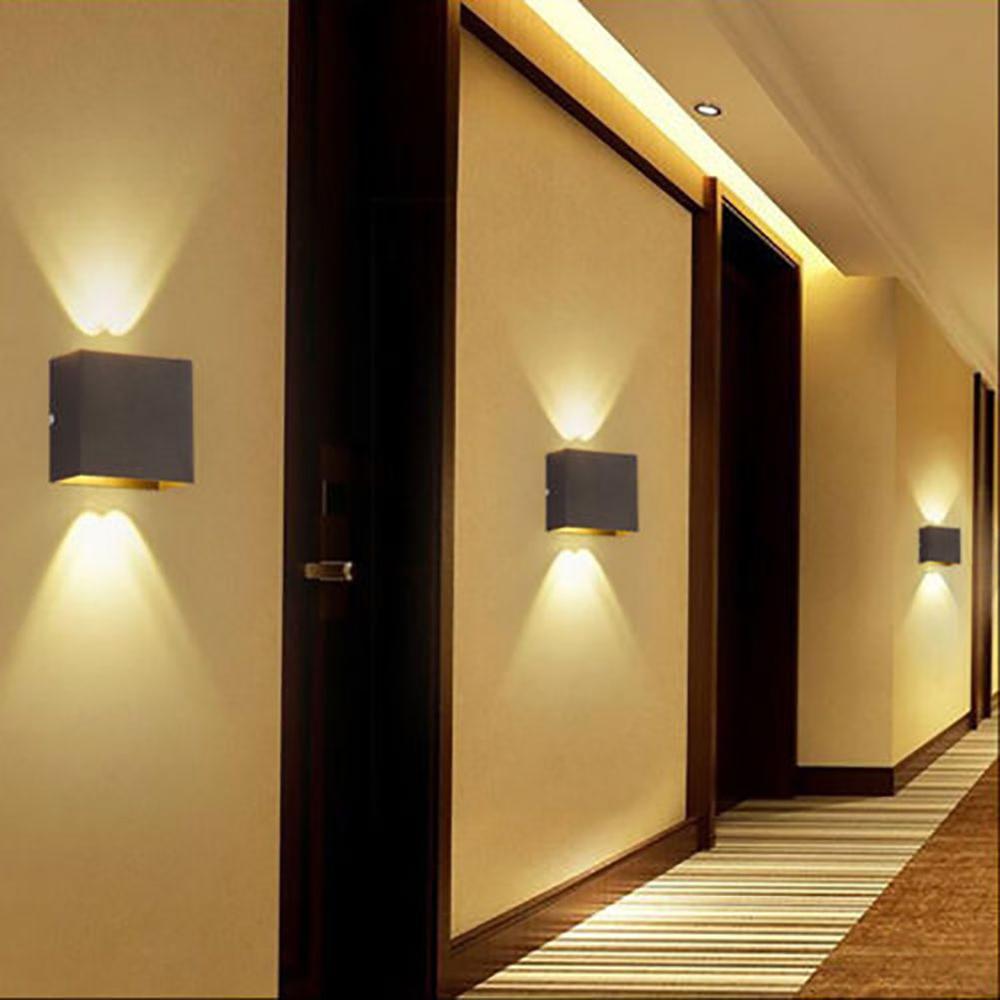 Modern 6W LED Wall Light Aluminum Shade Lamp Spot Lighting Home Bedroom Decoration