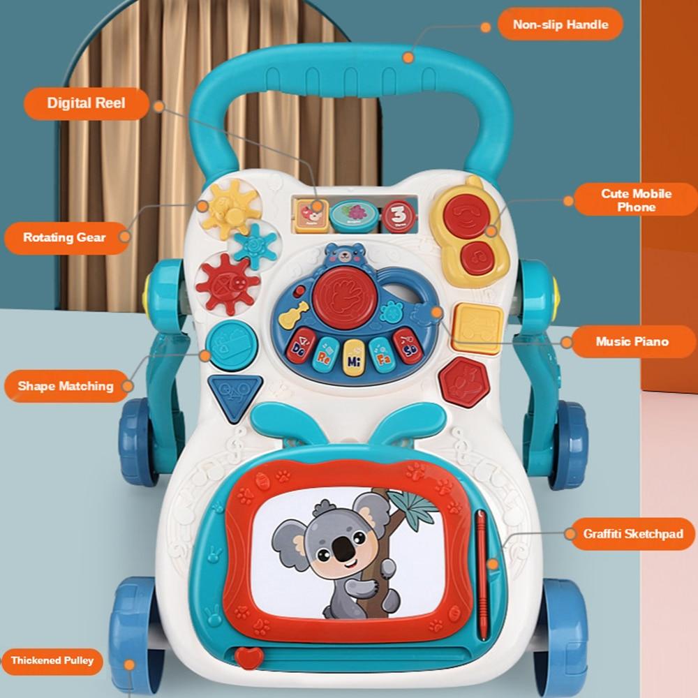Children's Stroller Walking Car Baby Walker Multifunction Baby Stroller Piano Drawing Baby Walker With Wheel Baby Walk Learning enlarge