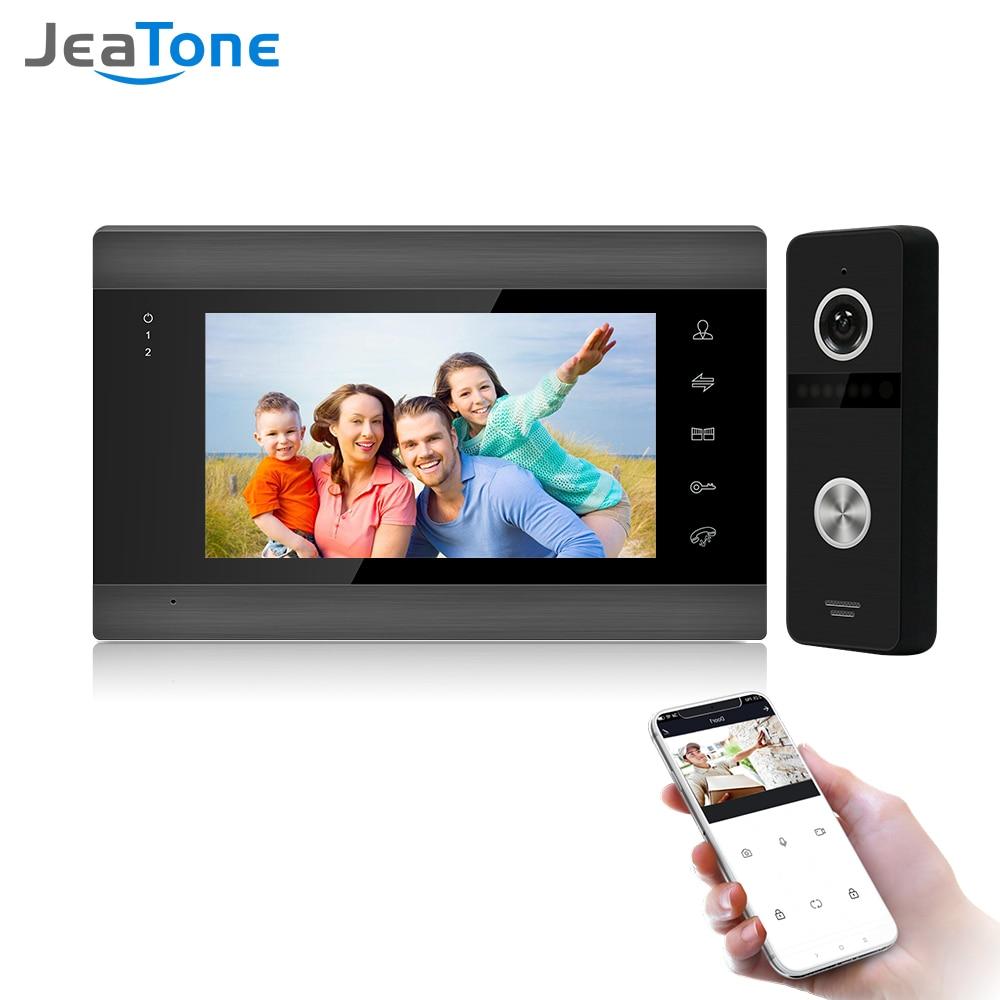Jeatone Беспроводной Wi-Fi видео домофон для видео-телефон двери Системы Поддержка видео-дверной звонок Камера видео-домофон Системы
