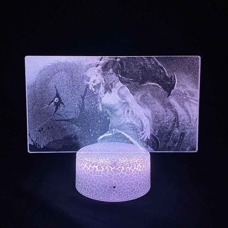 Аватар Легенда Об Аанге Корре картина 3d лампа для Украшения в спальню, подарок для ребенка, Led Цвет Ночной светильник подарок на день рождени...
