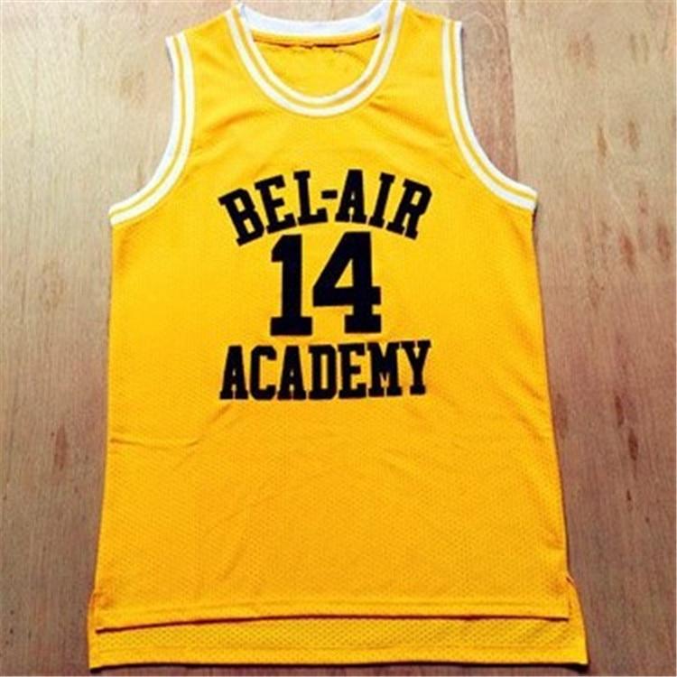 aliexpress.com - Movie Will Smith NO.14  Bel-Air Academy Basketball Jersey NO.25 Carlton Bank Black Yellow Green Mens T Shirt Vest College Jersey