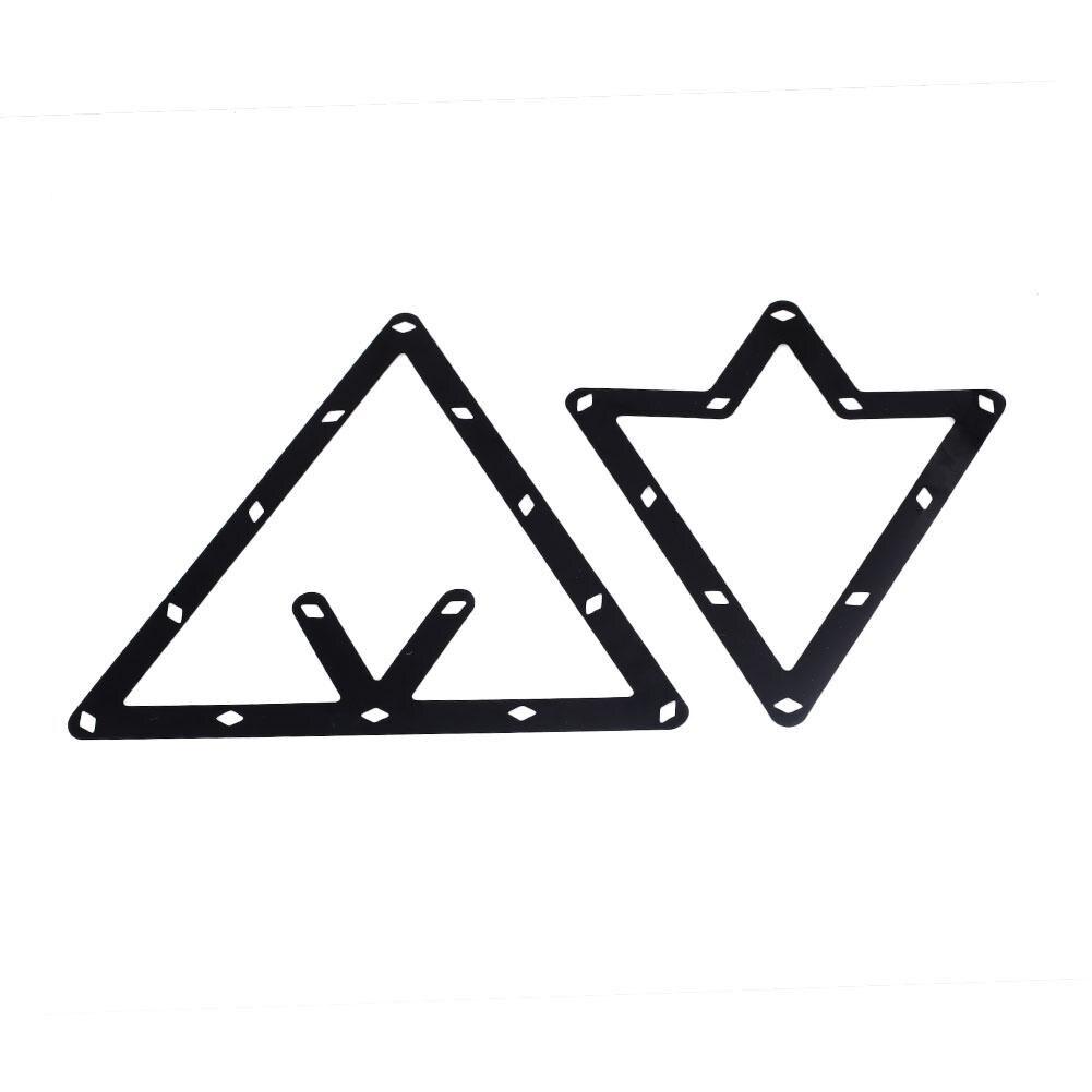 Plantillas Gadget accesorio pegatina posición billar bola estantes negro exterior taco triángulo/ubicación exterior