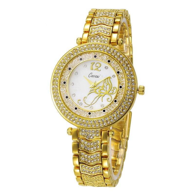 Marca de Cristal Relógio na Mão Relógio de Pulso Borboleta Clássico Relógio Feminino Rosa Ouro Luminoso Senhoras Braço Dropshipping Presente