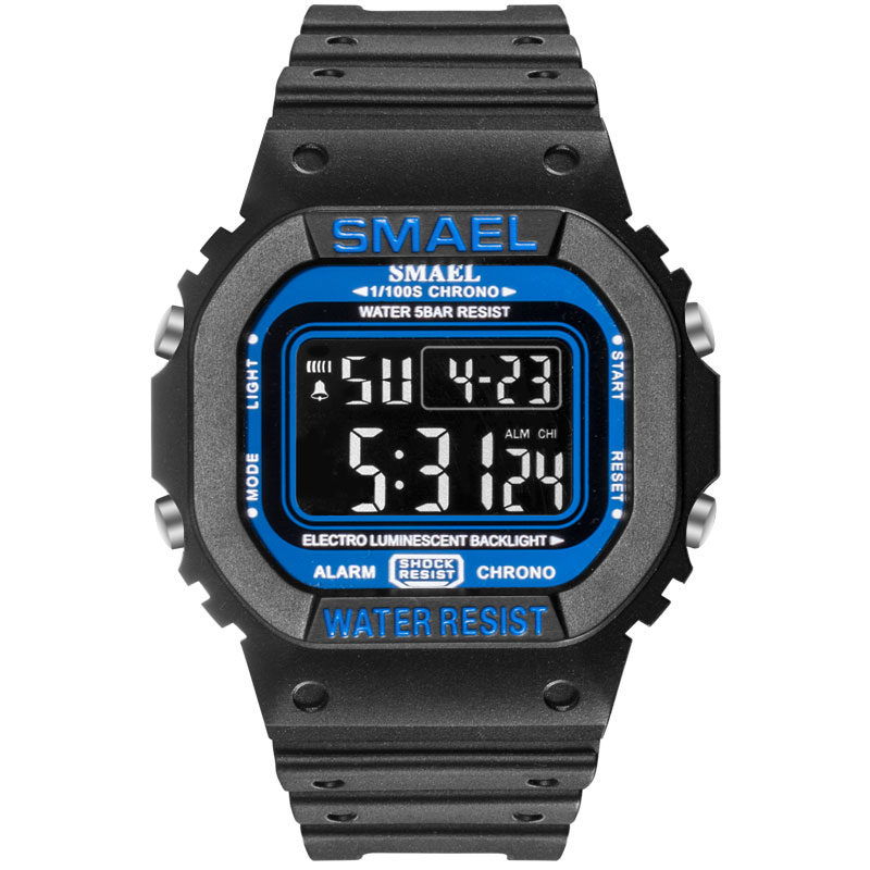 SMAEL Sports Watches Led Digital Sport Mens Watches Waterproof Digital Watch Male Clock Relogios Masculino Military Watch