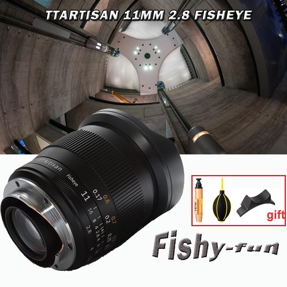 TTArtisan 11mm F2.8 lente de ojo de pez de la Fama para Sony Emount cámaras como A7 A7II A7R A7RII A7S A7SII A6500 A6300 A6000 A5100 A500
