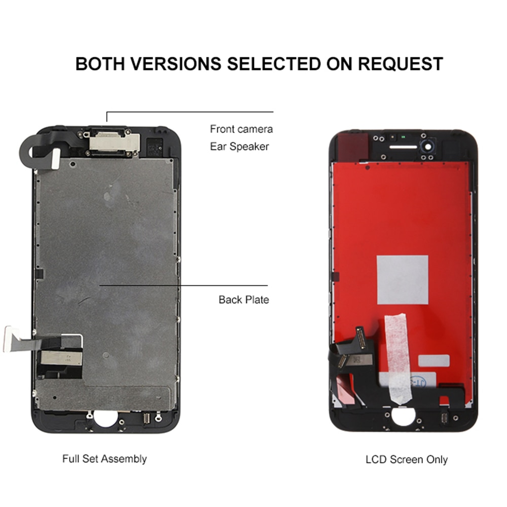 No.1 Full Set LCD Screen For iPhone 7 8 Plus LCD Assembly Complete Touch Digitizer Screen Replacement AAA Display Front Camera enlarge