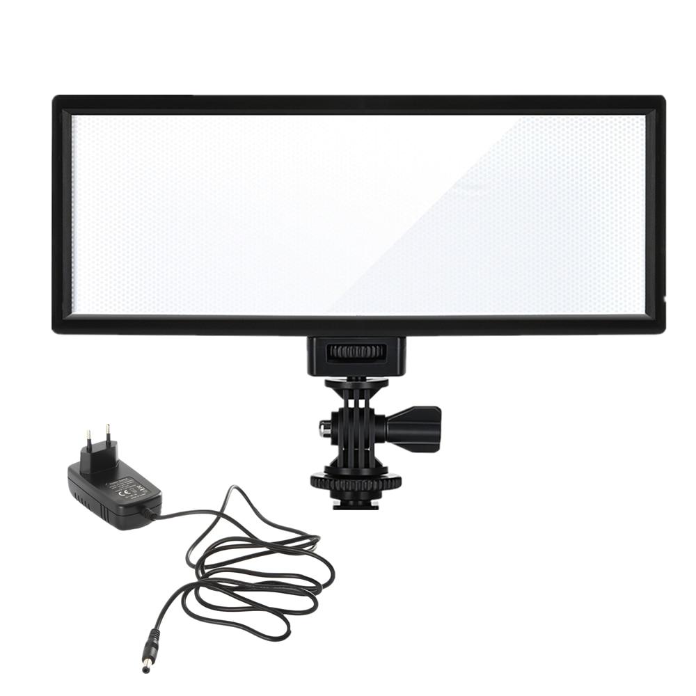 Viltrox L132T Camera LED video light LCD Display Bi-Color & Dimmable Slim DSLR + AC power Adapter for Canon Nikon DV Camcorder