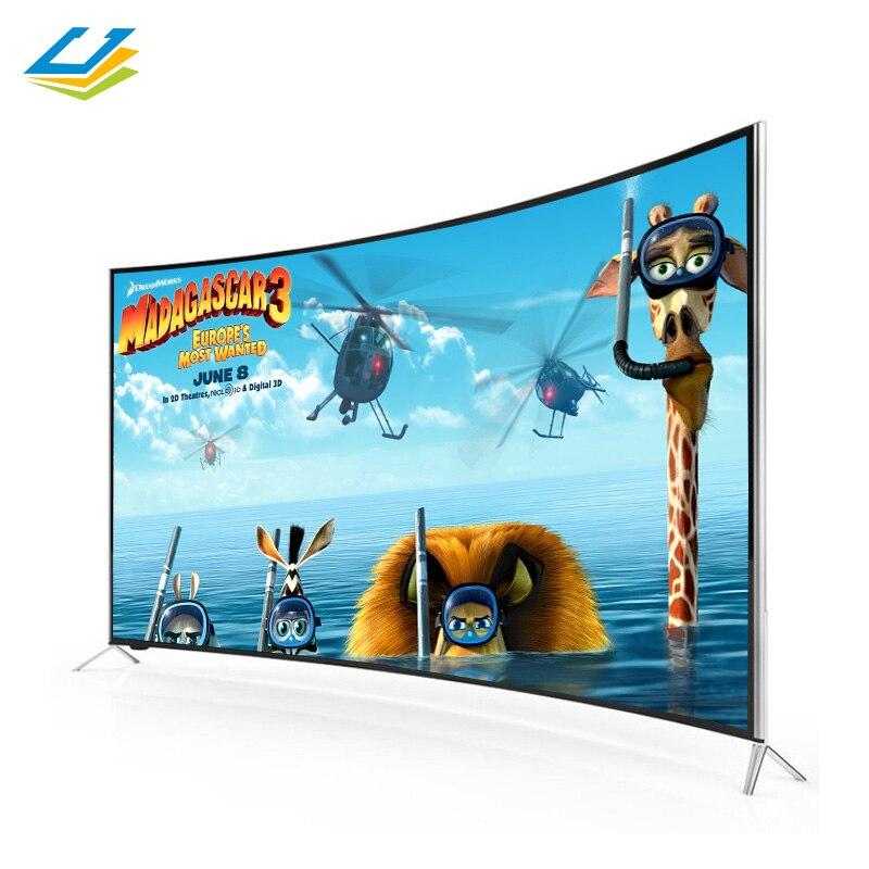 Cenview china fábrica curvada tv smart 43 50 55 65 Polegada televisão smart tv