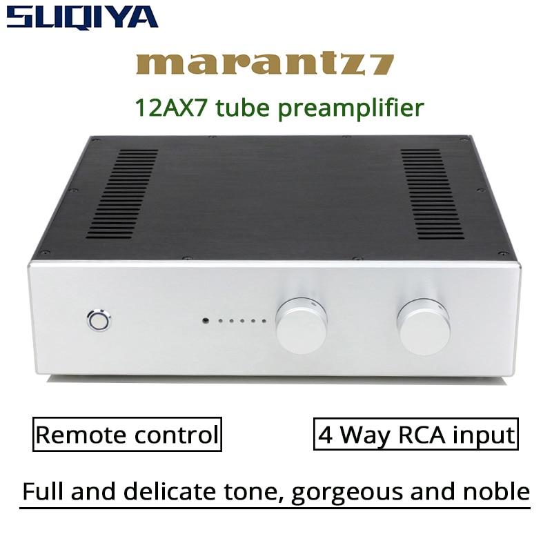 PREAMPLIFICADOR DE TUBO DE SUQIYA-PRT07B-12AX7, preamplificador de alta fidelidad, preamplificador, referencia Marantz...