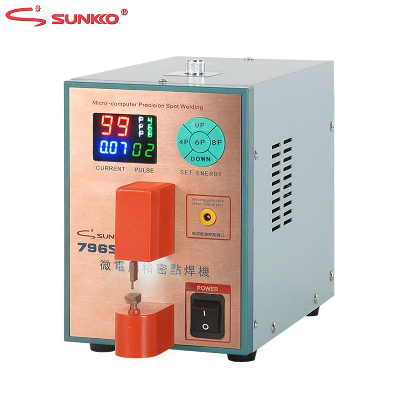 sunnko 796SD Spot Welder Intelligent Precision Pulse Spot Welding Machine For Metal Stainless Steel Iron-nickel Butt Welding steel pulse steel pulse victims